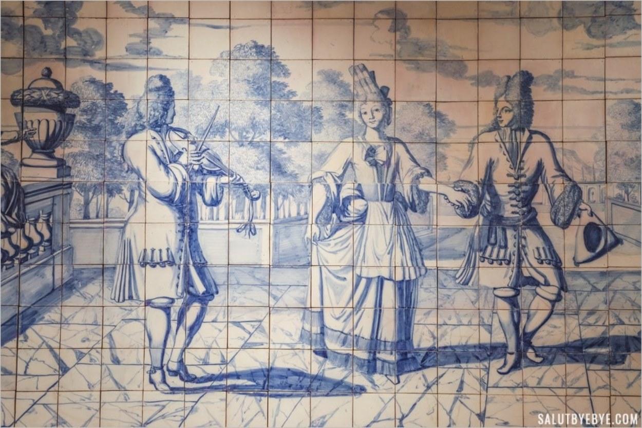 Détail d'une fresque en azulejos
