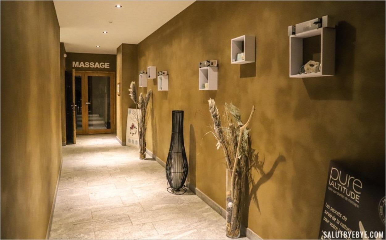 L'espace Massage et Soins du spa