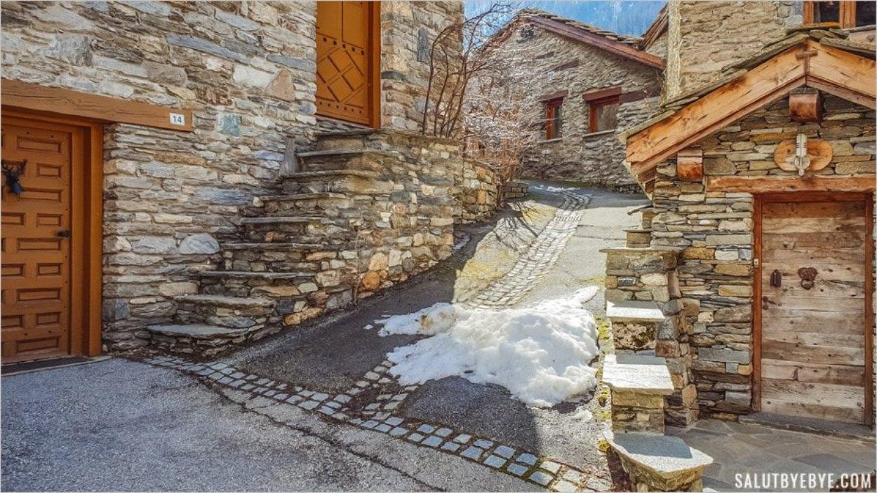 Le vieux village de Lanslebourg, station de Val Cenis