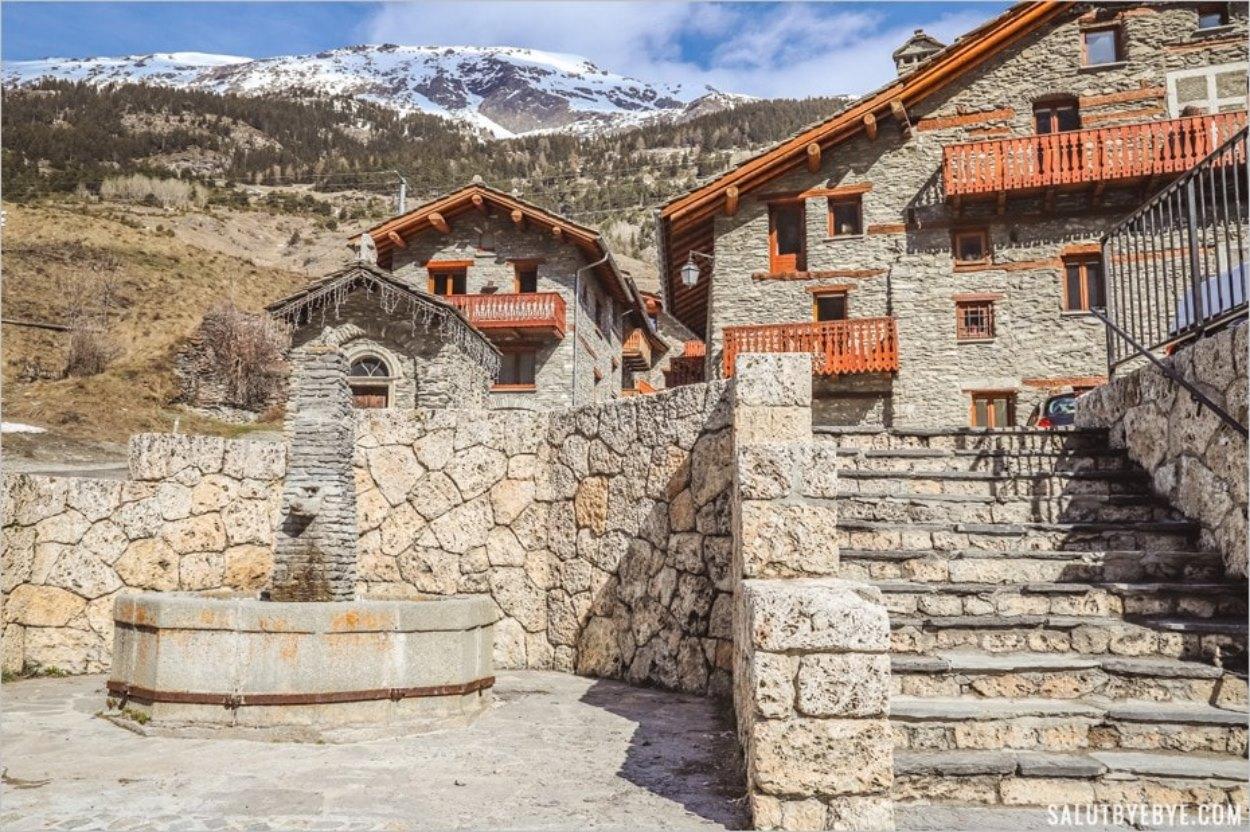 Le village de Lanslebourg à Val Cenis
