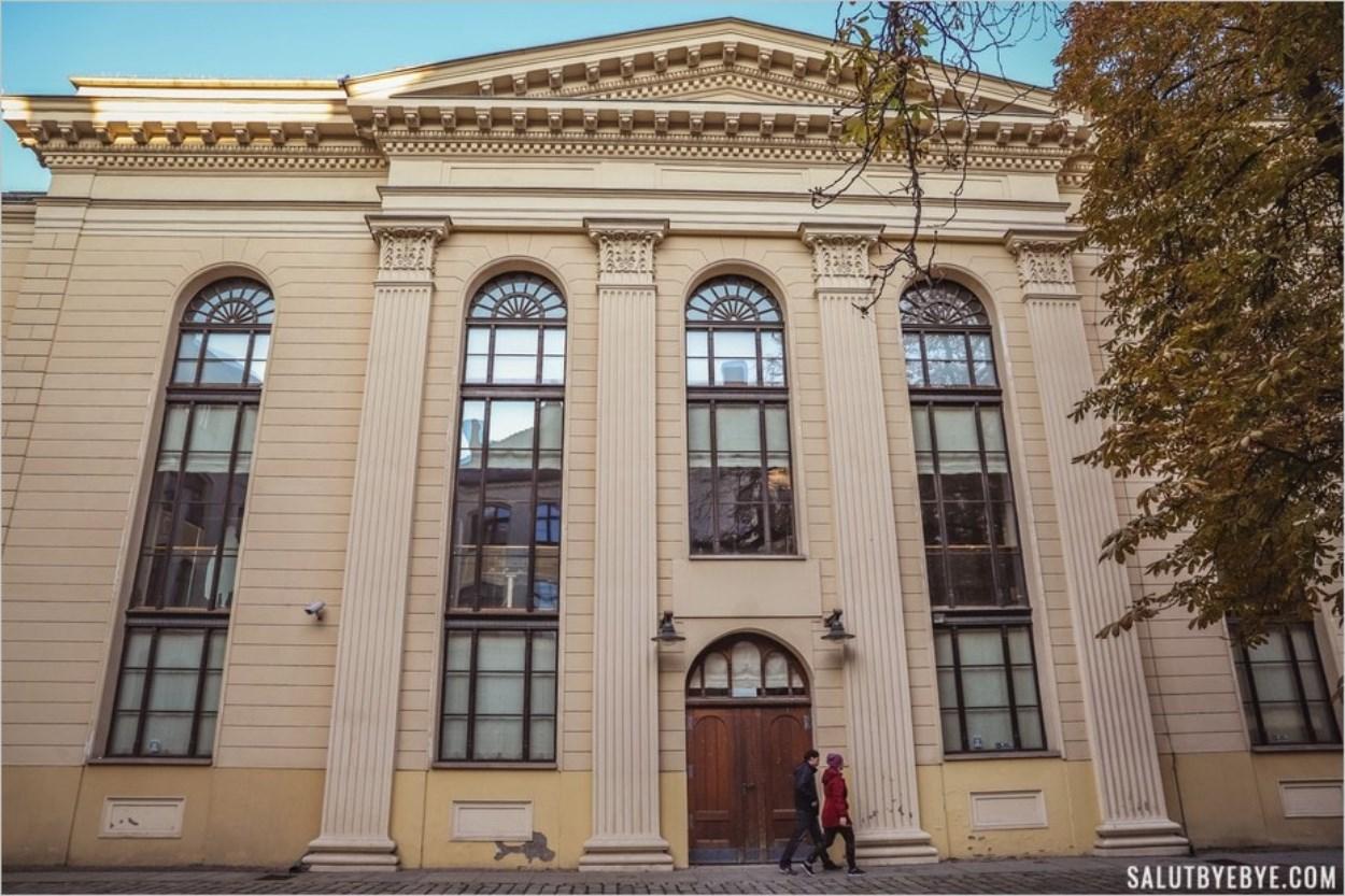 L'entrée de l'ancienne synagogue de Wroclaw