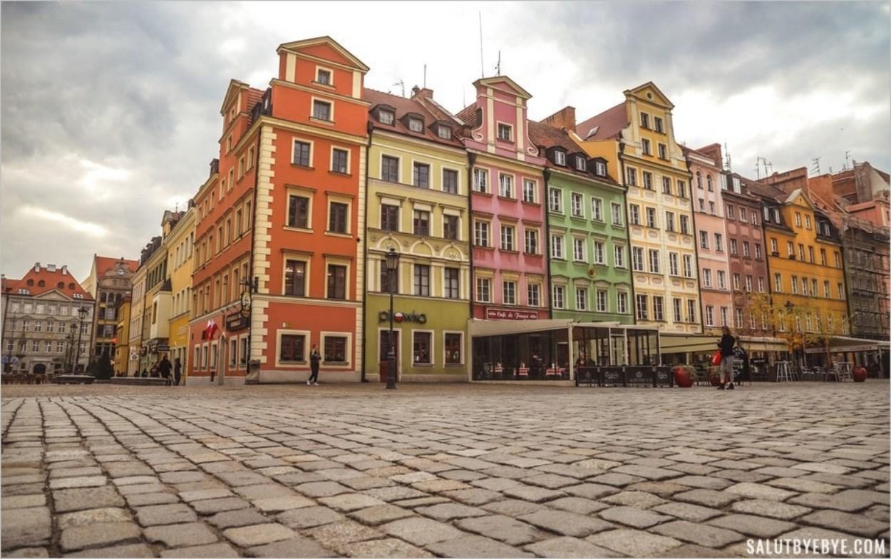 Vue du centre historique de Wroclaw