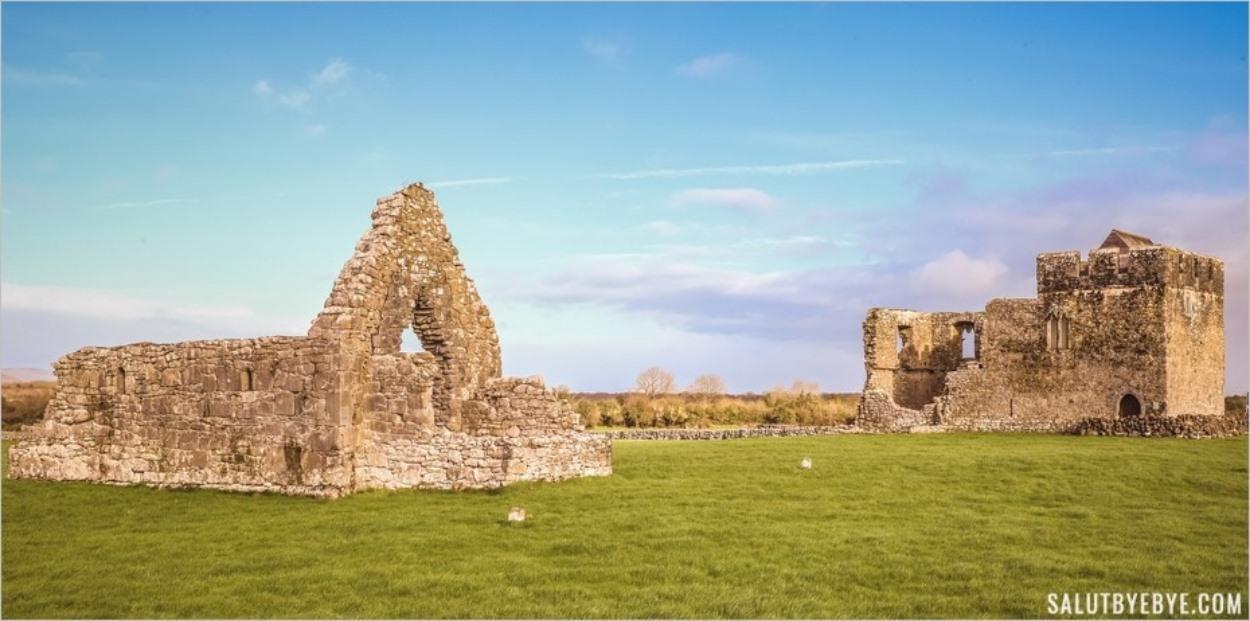 Les ruines de l'église Saint-Jean-Baptiste et de la Glebe House