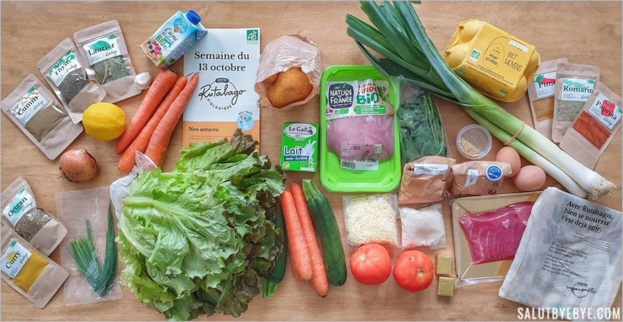 Les ingrédients de la box bio Rutabago