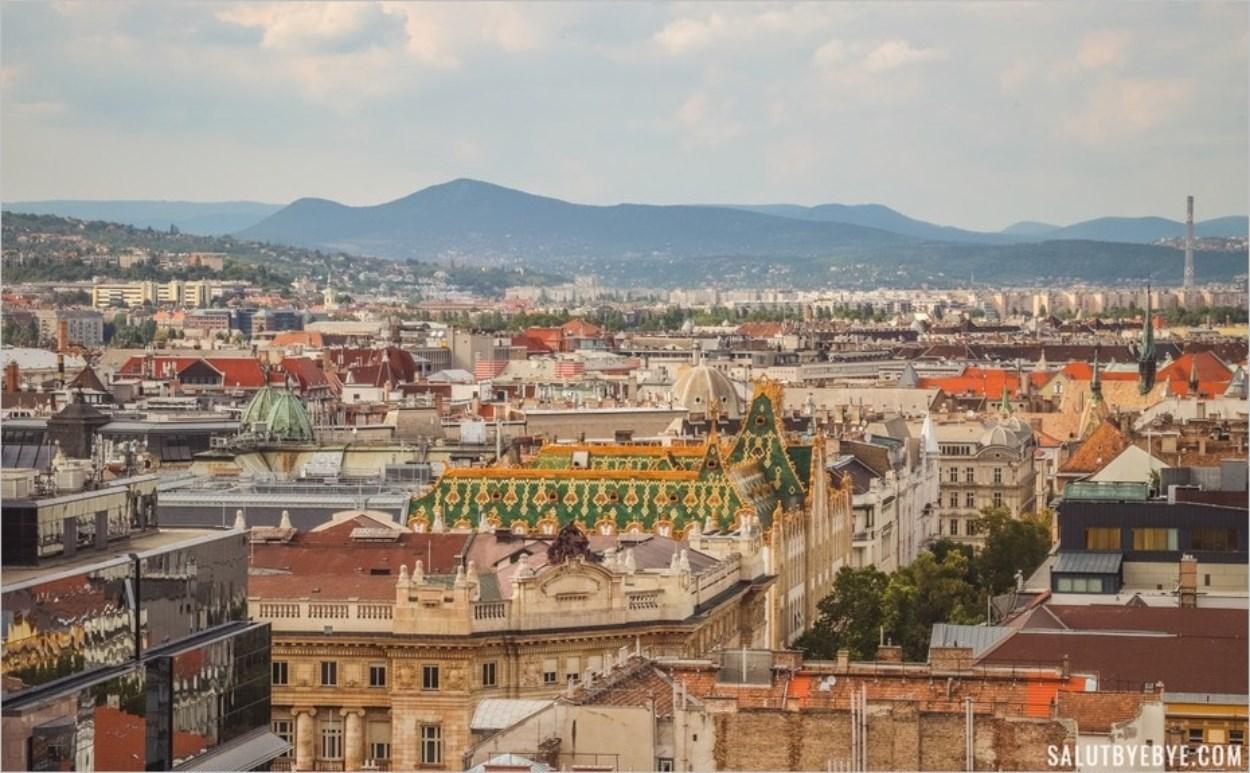 Vue depuis la basilique de Budapest