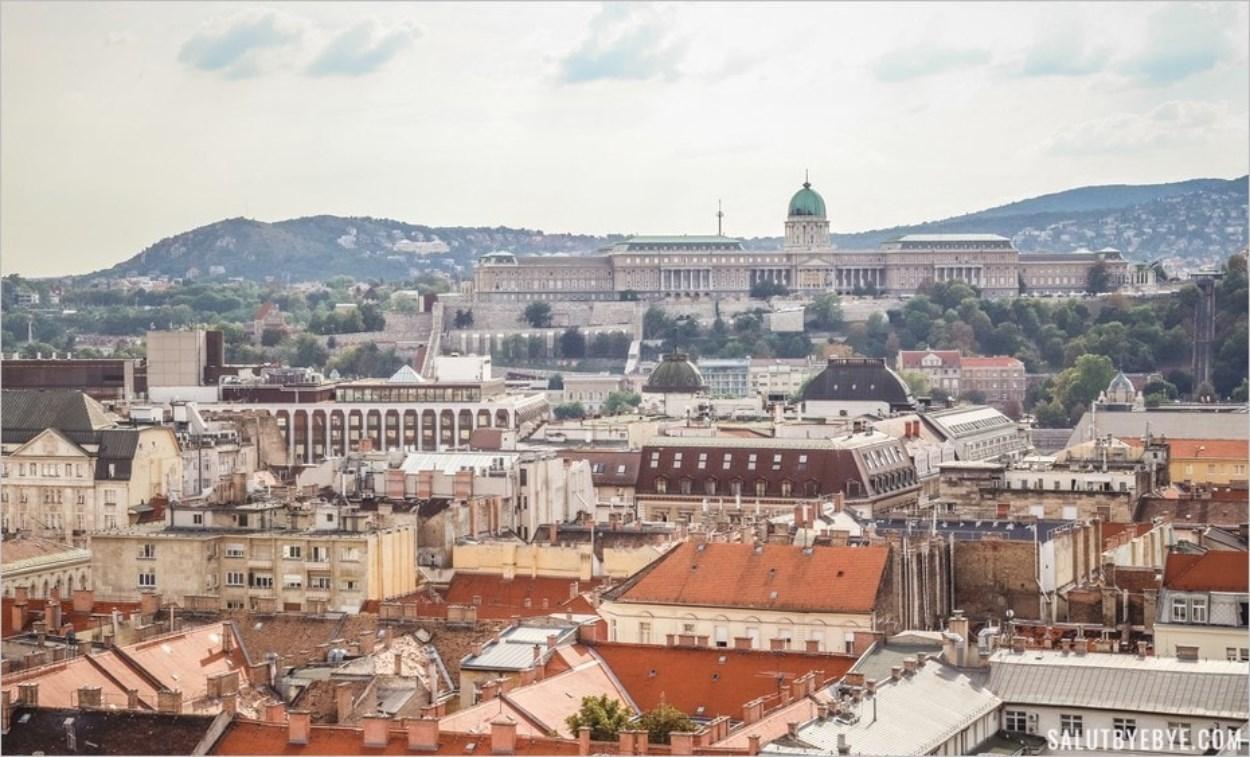 Le Palais de Budavár depuis la basilique