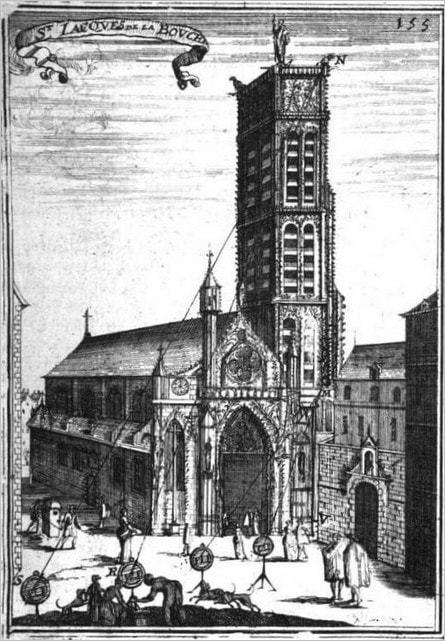 L'église Saint-Jacques-la-Boucherie en 1702