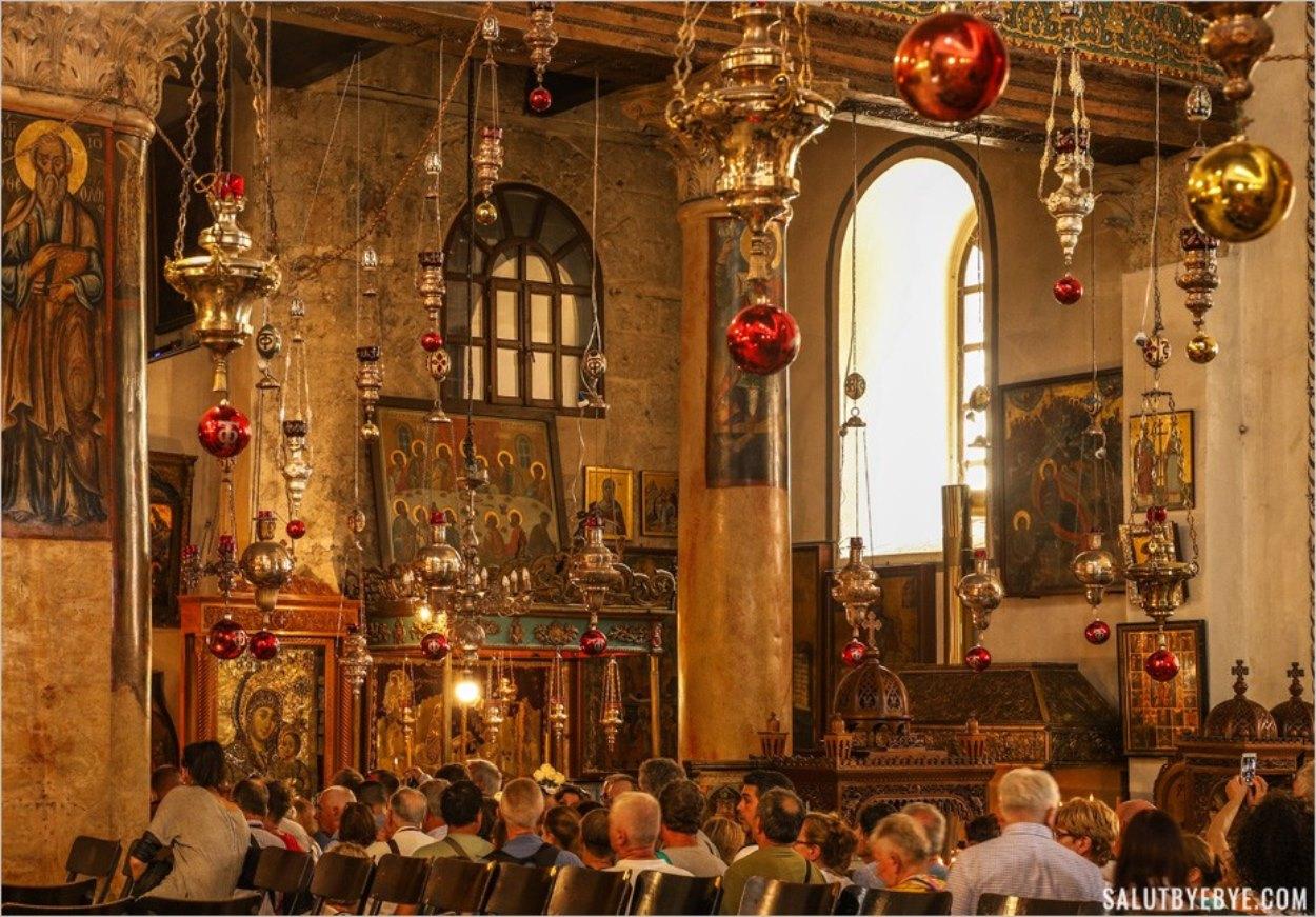 Intérieur de la Basilique de la Nativité à Bethléem