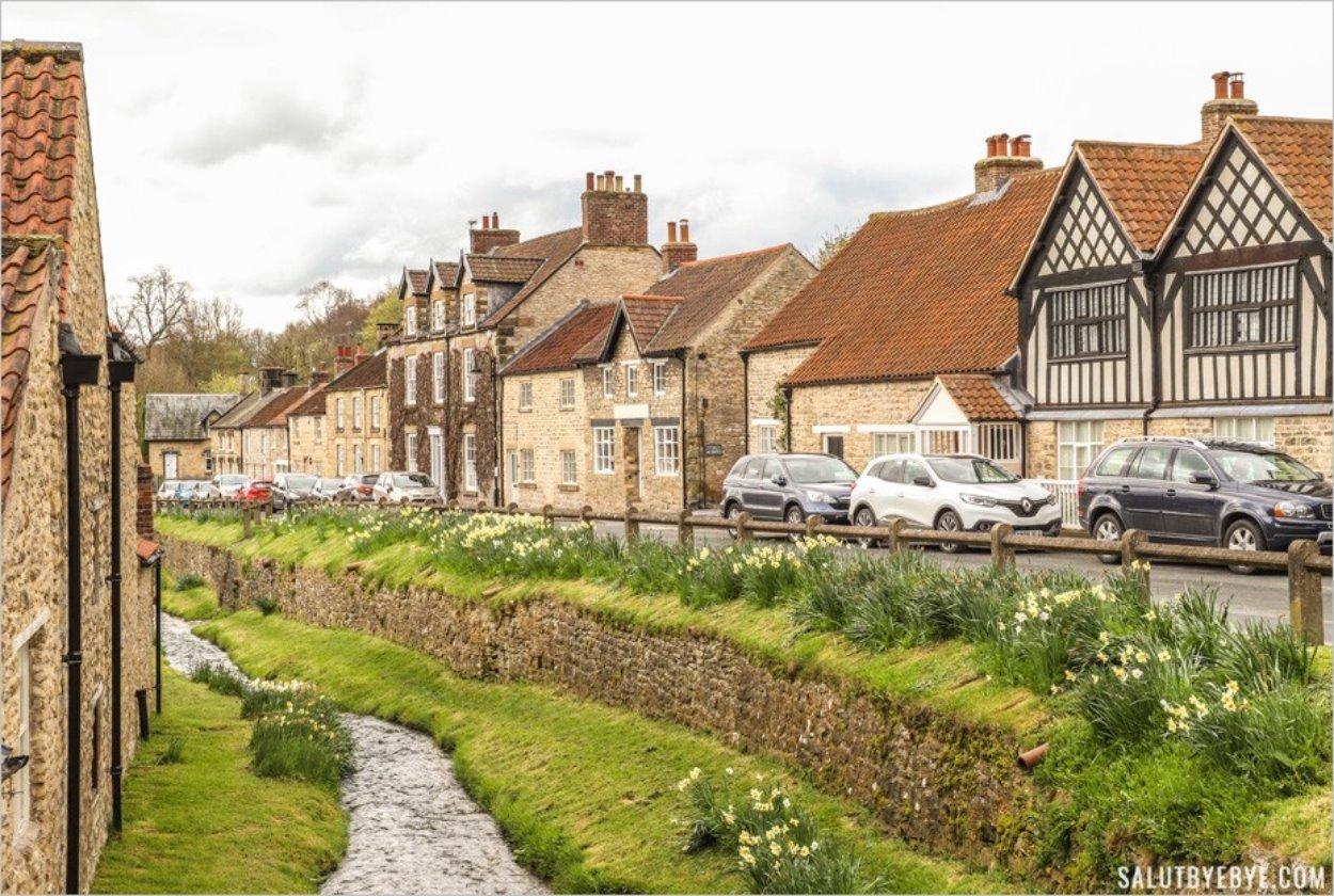 Maisons anglaises sans volets à Helmsley