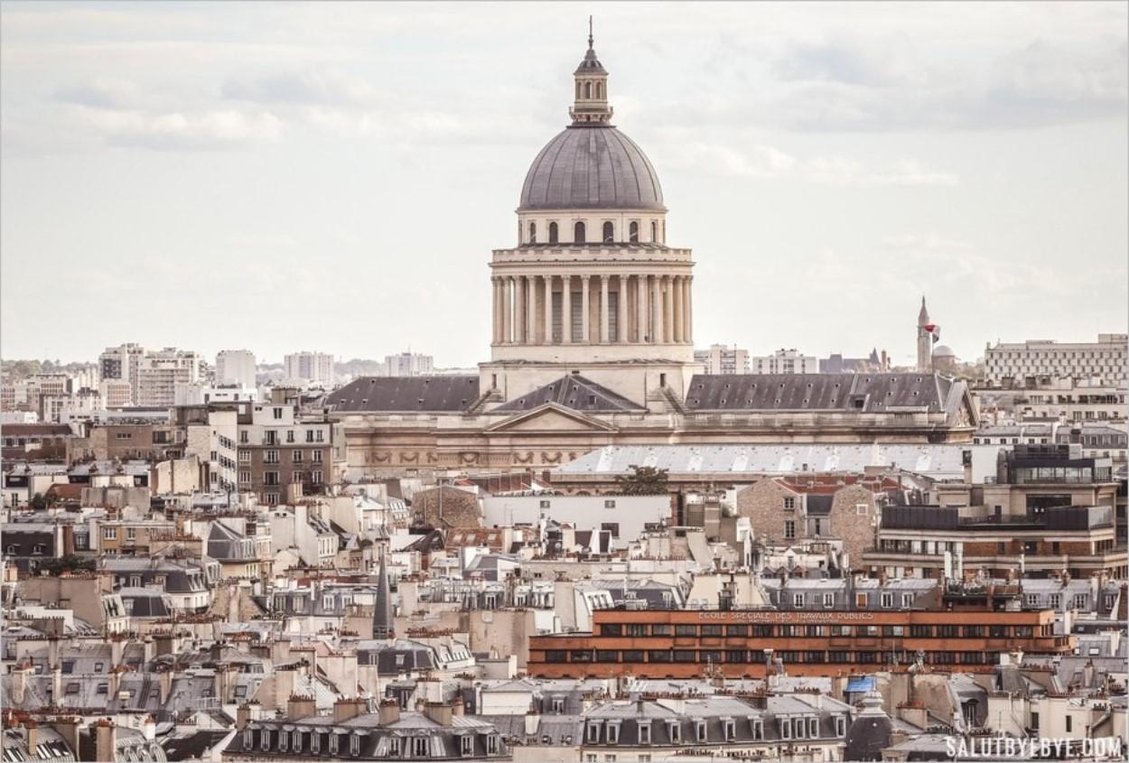 Le Panthéon depuis la Tour Saint Jacques