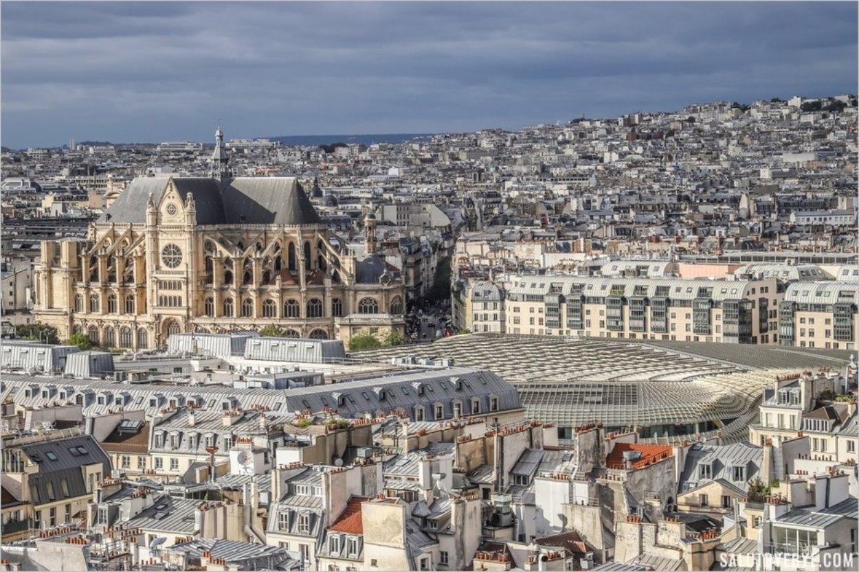 Saint-Eustache et la canopée des Halles