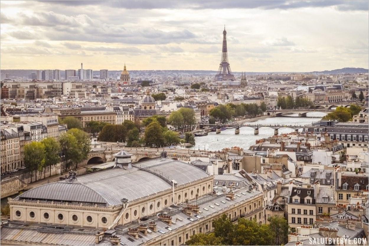 Belle vue de Paris depuis la Tour Saint Jacques