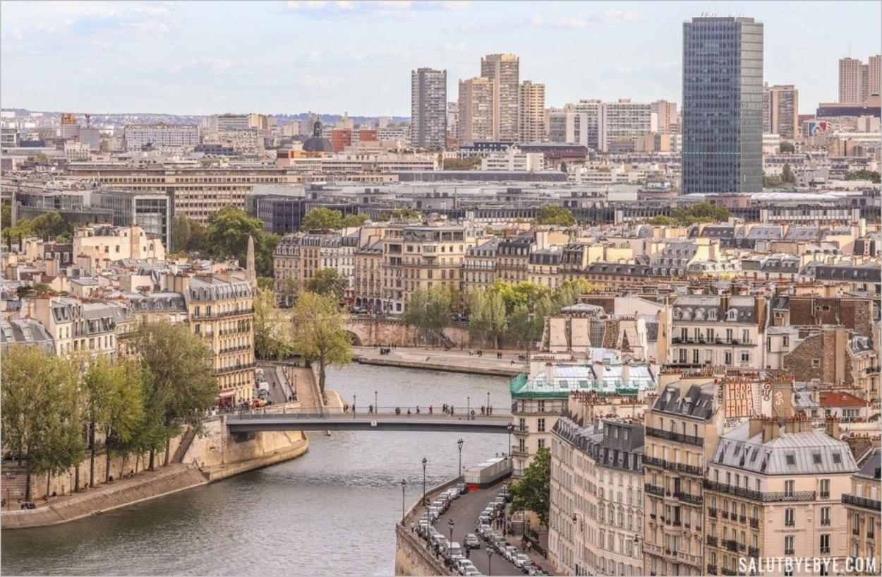 Vue sur la Seine et Pont Saint Louis