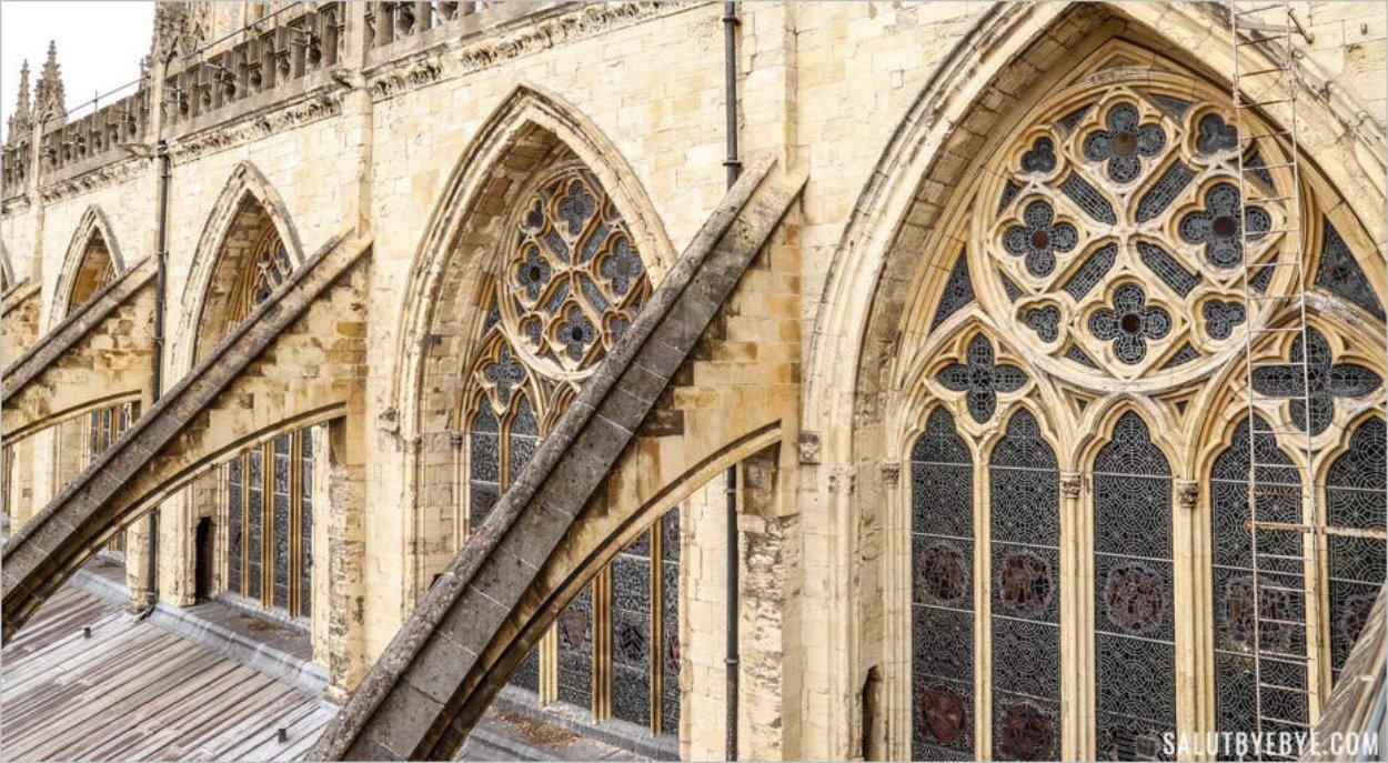 Toit de la cathédrale de York