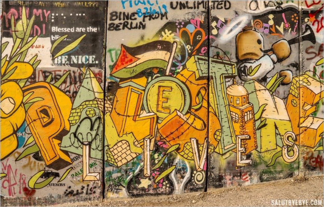 Street art à Bethléem, Cisjordanie