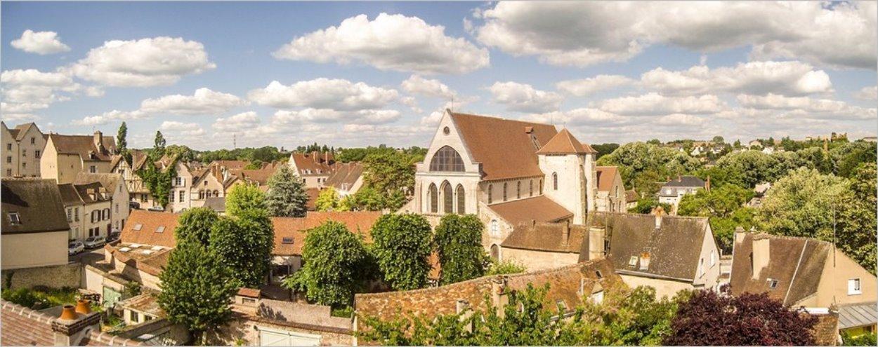 Vue panoramique sur Chartres