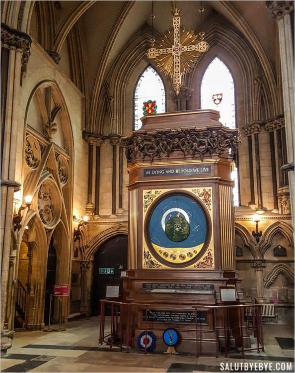 L'horloge astronomique de la cathédrale de York