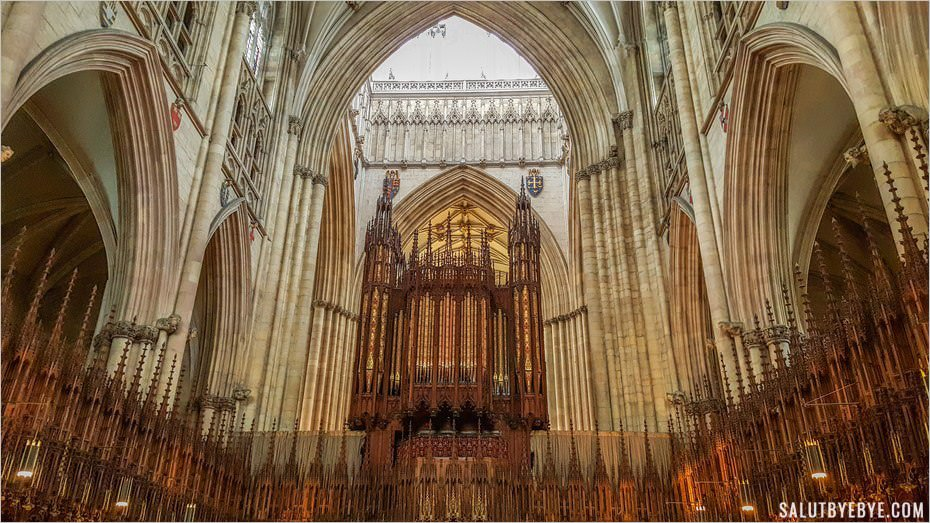 L'orgue de York Minster, Yorkshire, Angleterre