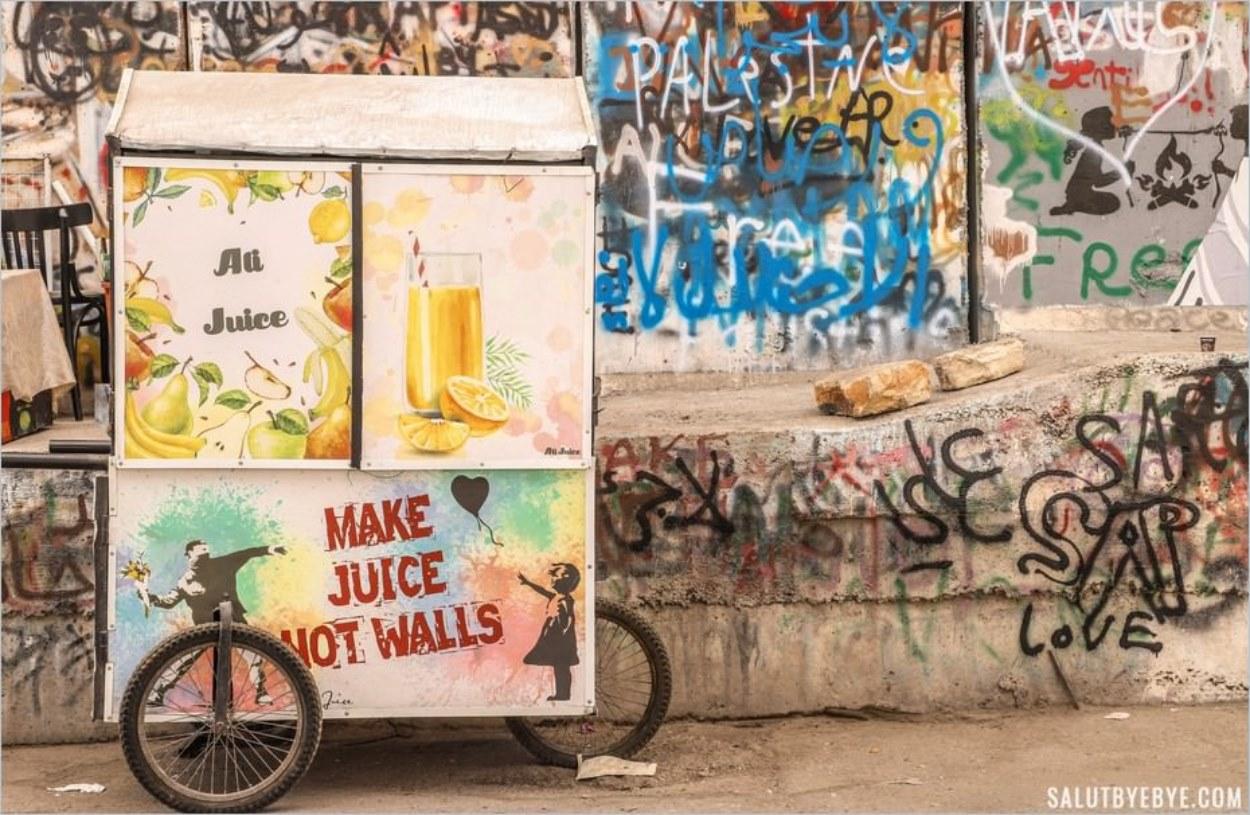 Street art mur Israël-Palestine