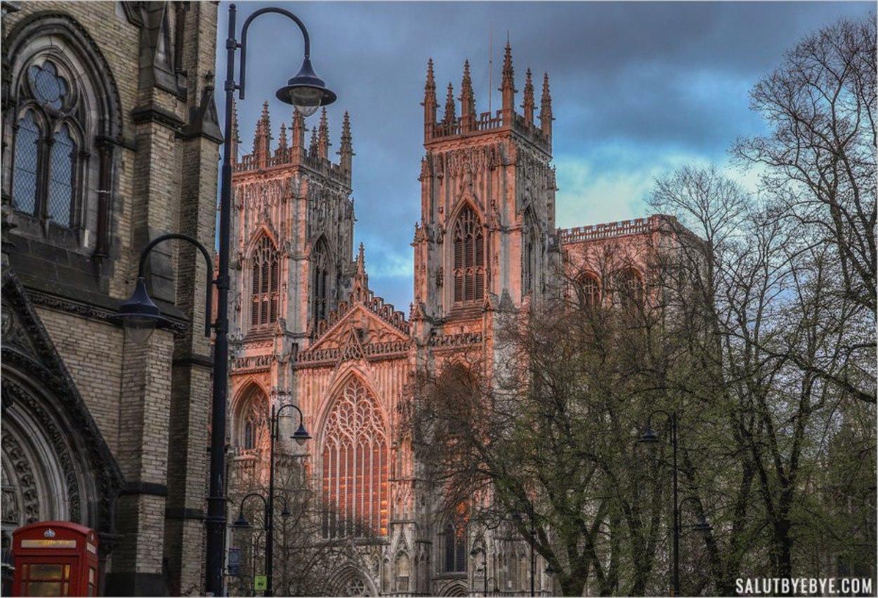 Vue de la cathédrale de York dans le Yorkshire en Angleterre