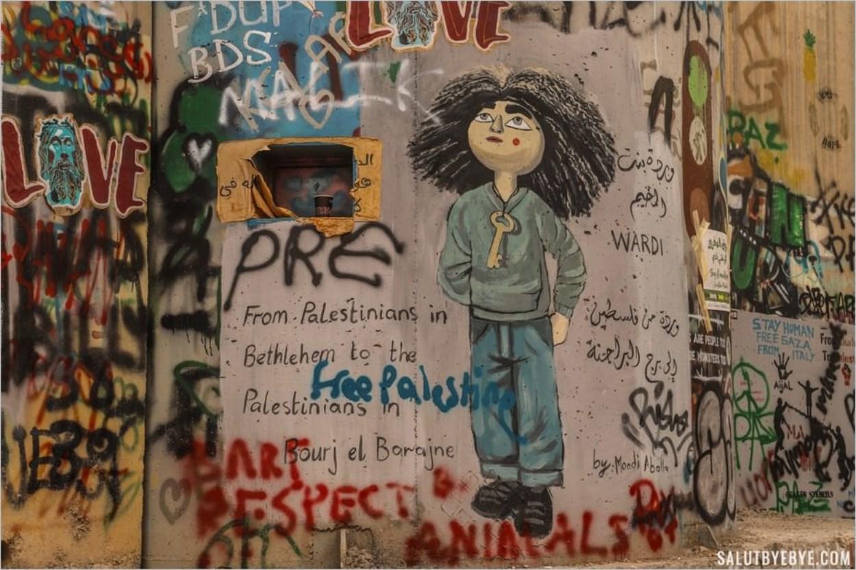 Wardi sur le mur Israël-Palestine