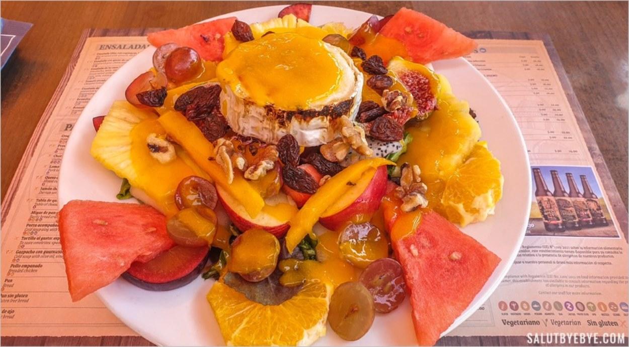 Déjeuner au restaurant El Mirador à Ardales en Andalousie