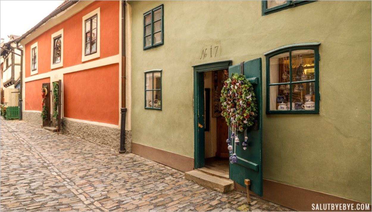 La Ruelle d'Or dans le château de Prague