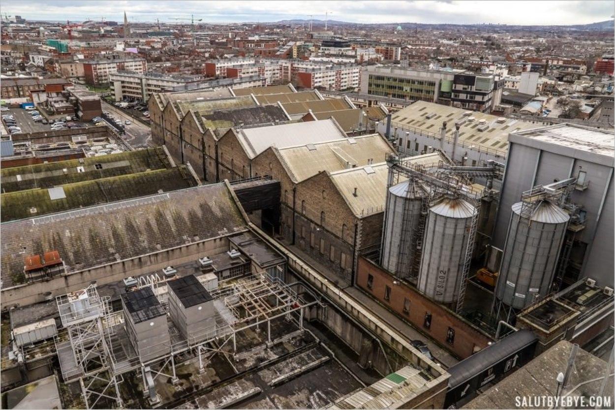 La brasserie Guinness vue d'en-haut