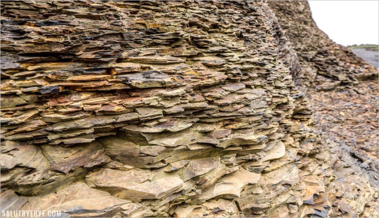 La structure rocheuse des falaises de Moher