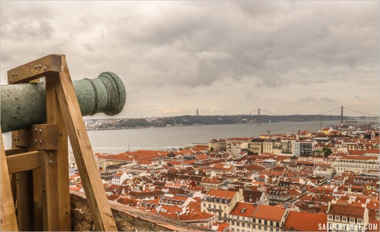 Canons dans le château de Lisbonne