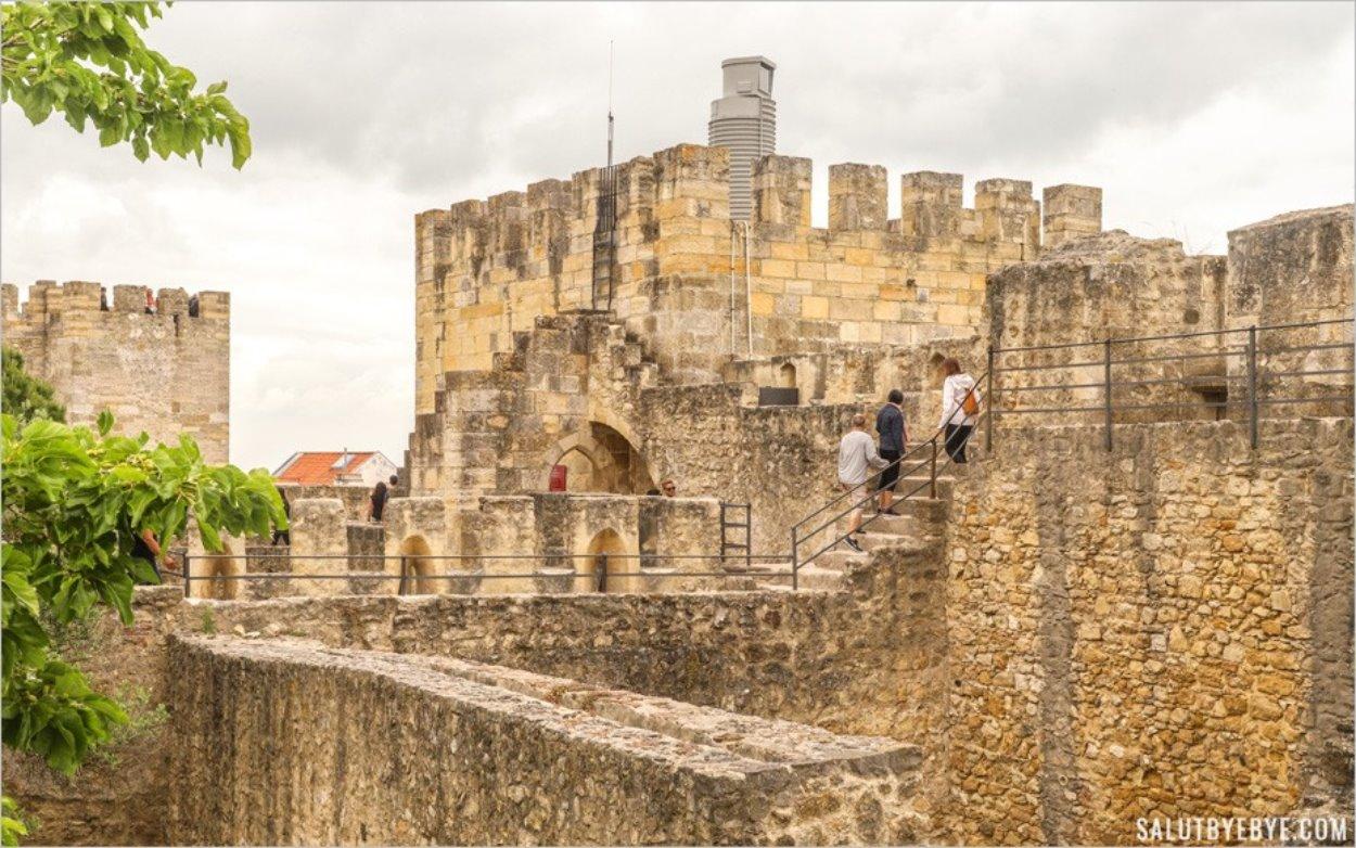 Visite du château Saint Georges de Lisbonne