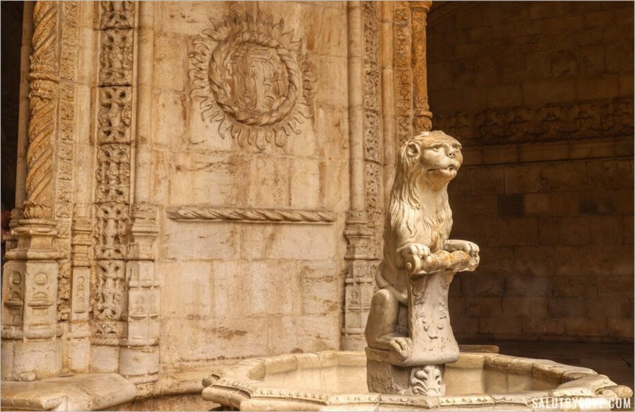 La fontaine au lion, monastère de Jeronimos