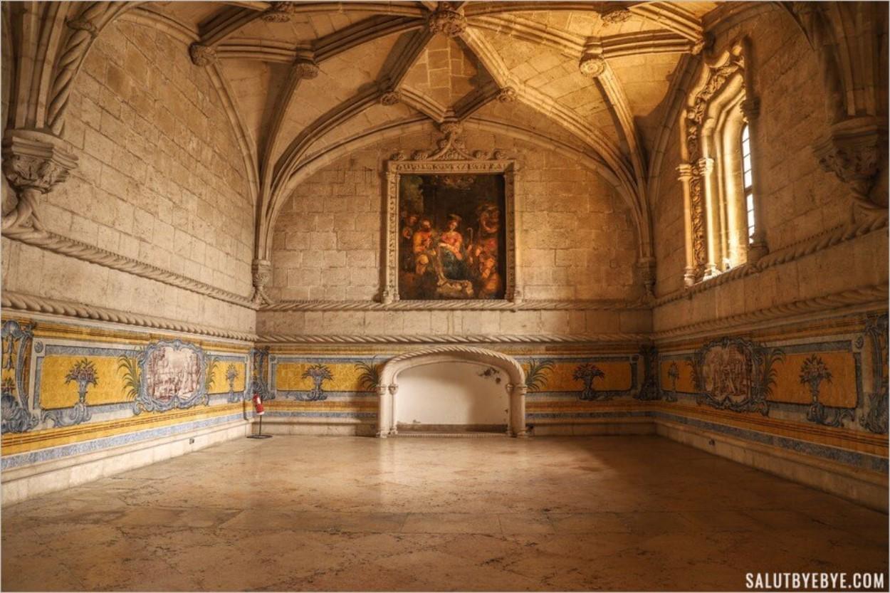 Le réfectoire du monastère des Hiéronymites