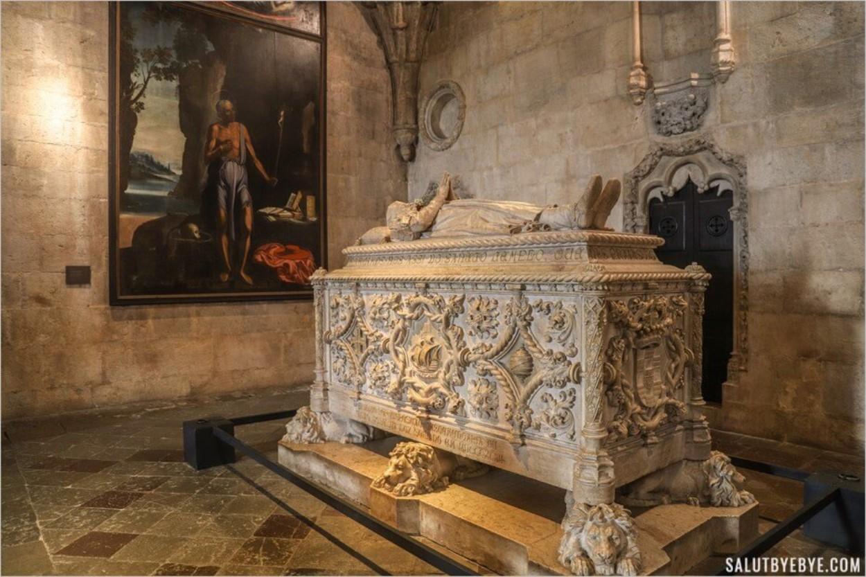 Le tombeau de Vasco de Gama au monastère des Hiéronymites