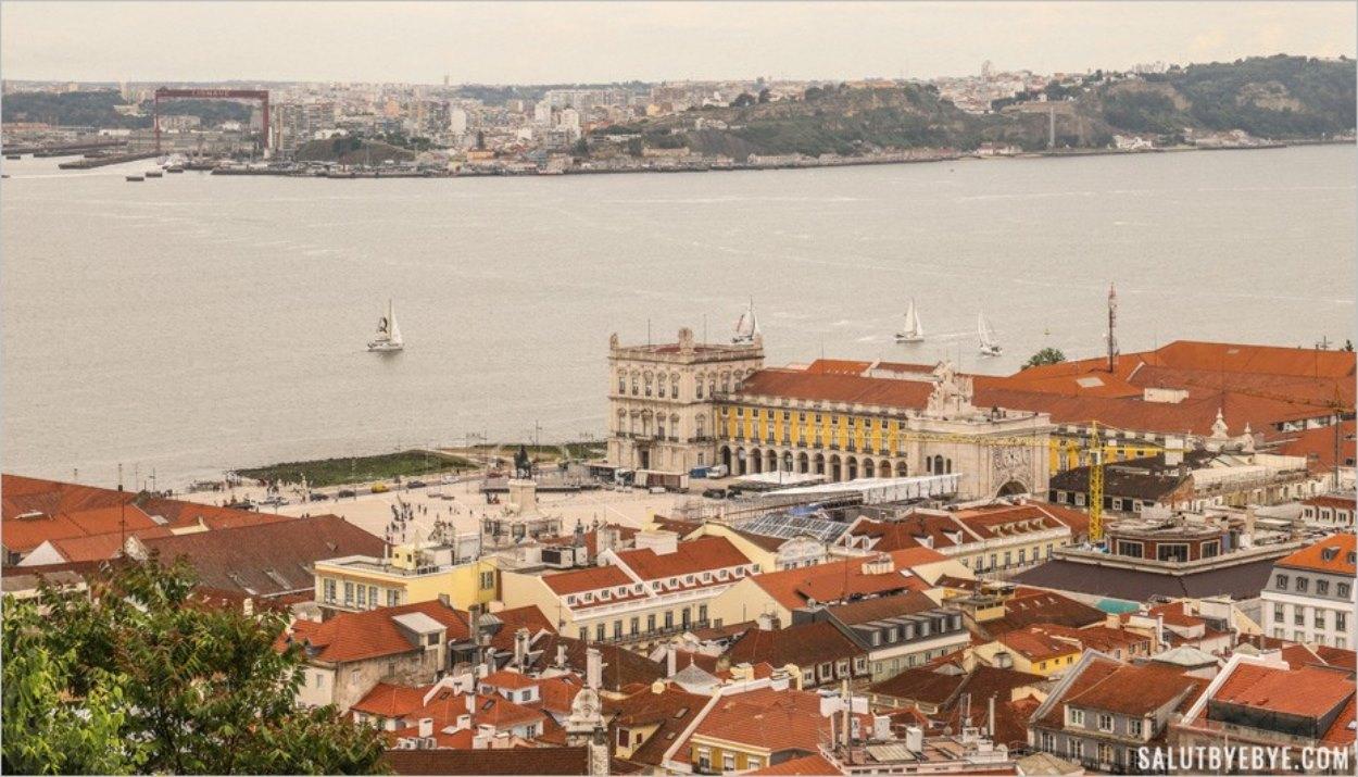 Praça do Comércio à Lisbonne