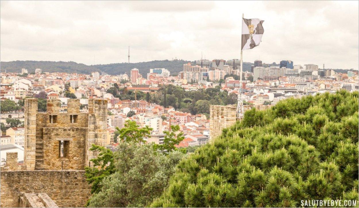 Les tours du château Saint Georges