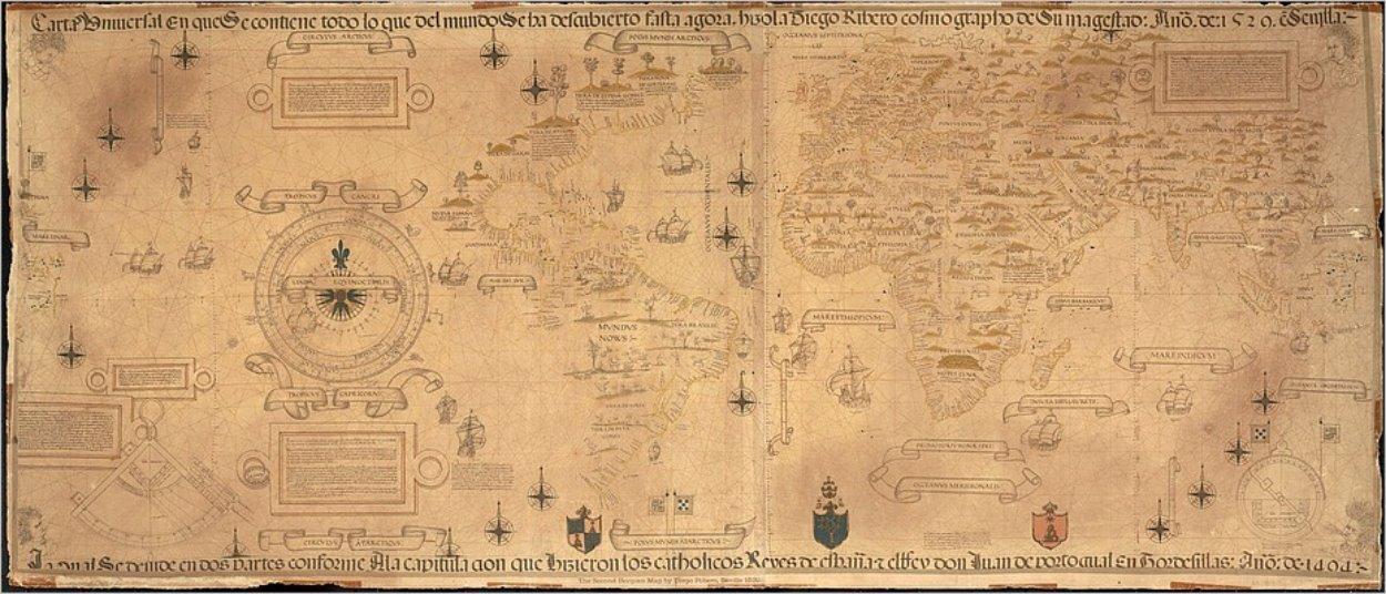 La carte du monde vue par Diego Ribero