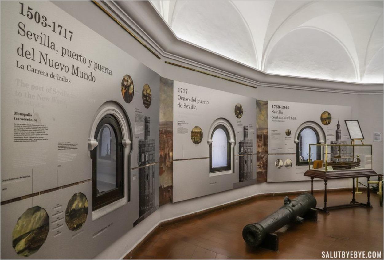 Le musée naval de la Tour de l'Or de Séville