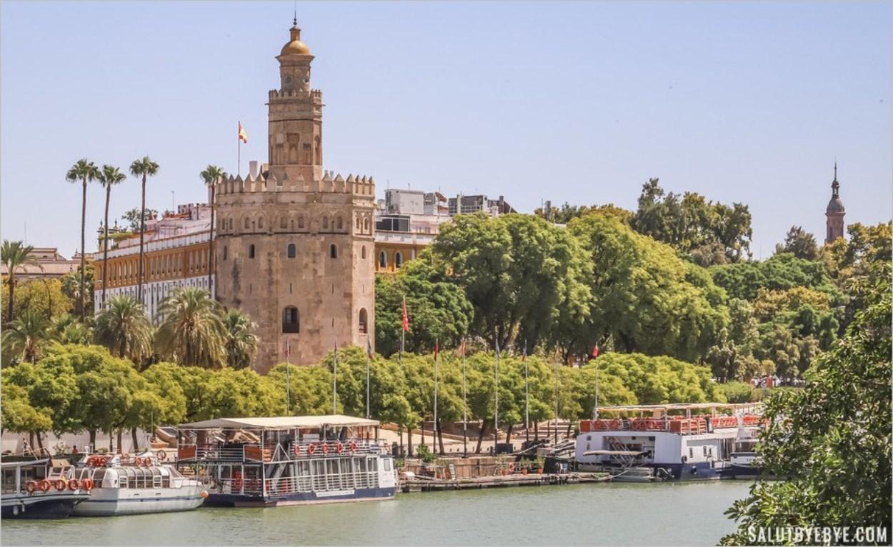 Vue de la Torre del Oro et du Guadalquivir