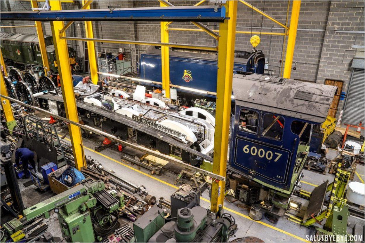 L'atelier d'entretien des trains