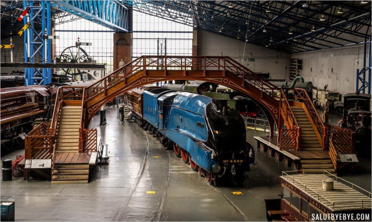 Vue sur l'exposition du National Railway Museum de York