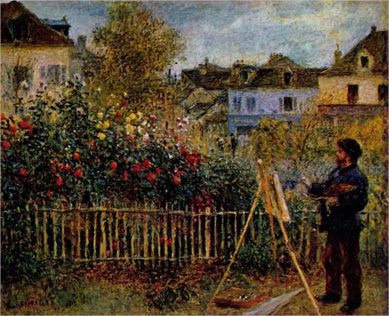 Inception ! Renoir peint Claude Monet peignant son jardin à Argenteuil, 1873