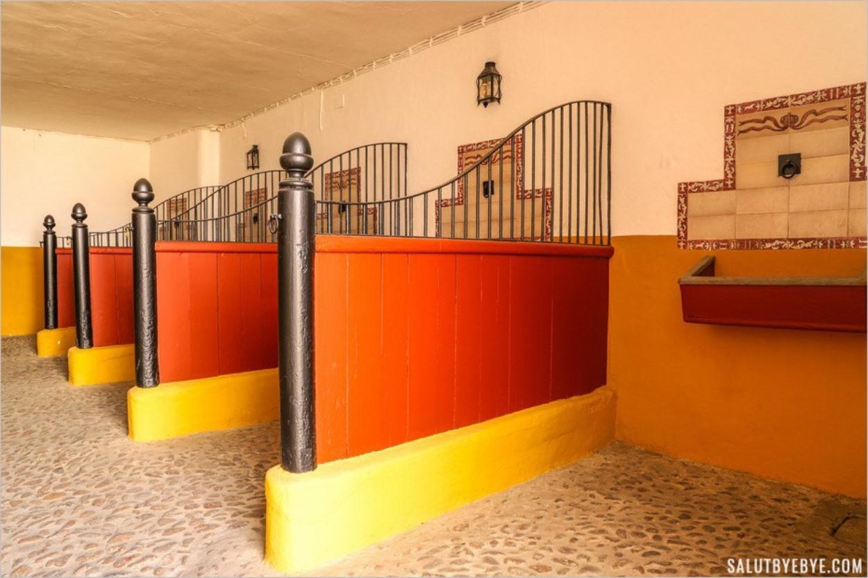L'une des salles dédiées aux chevaux des picadors