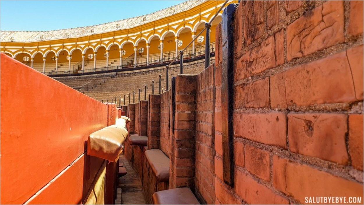 A l'intérieur des arènes de Séville