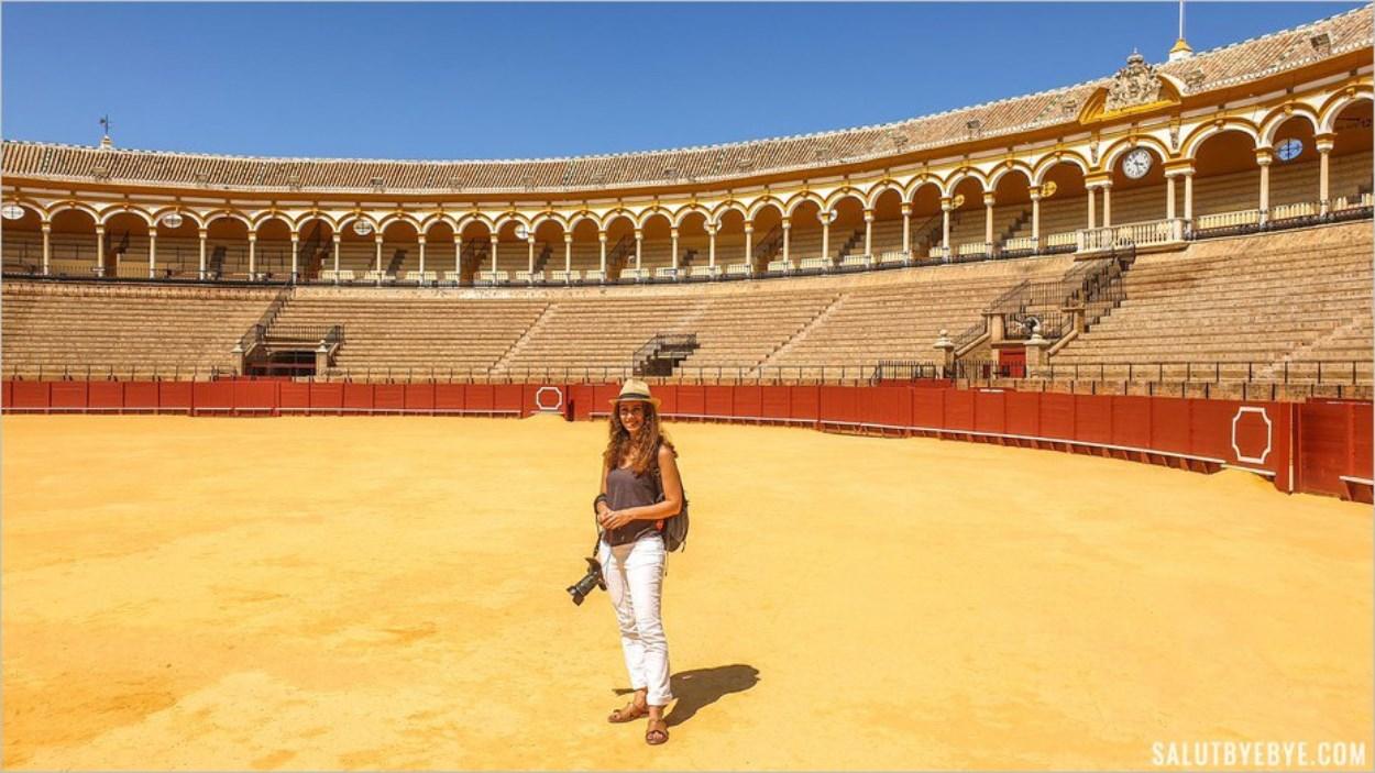 L'intérieur des arènes de Séville