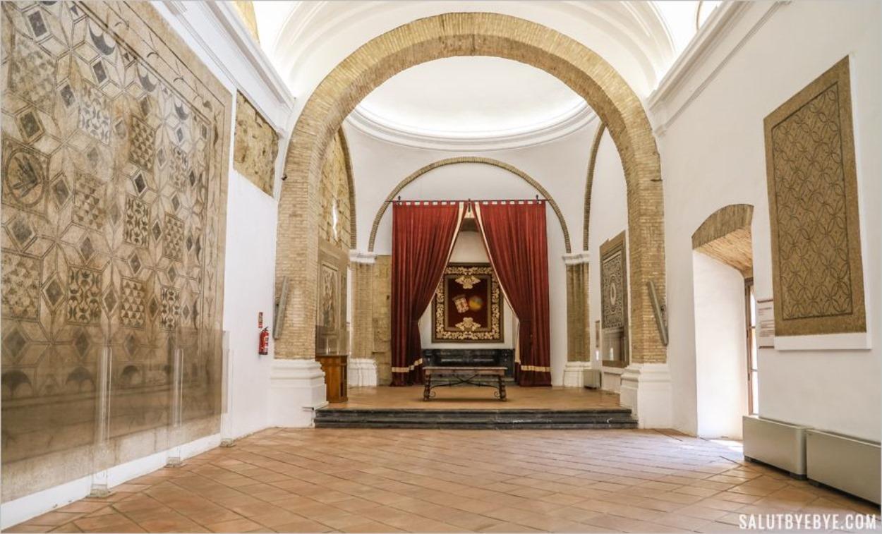 Salle des mosaïques de l'Alcazar de Cordoue