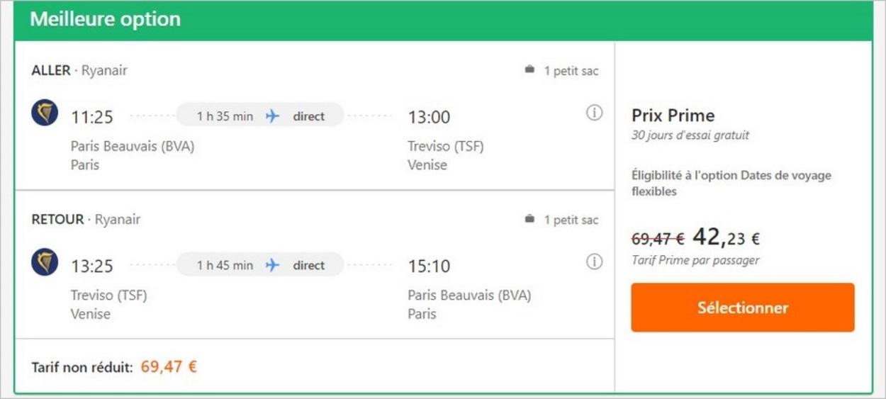 Vol Paris-Venise sur RyanAir avec Opodo