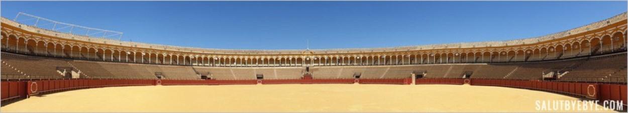 Vue panoramique des arènes de Séville