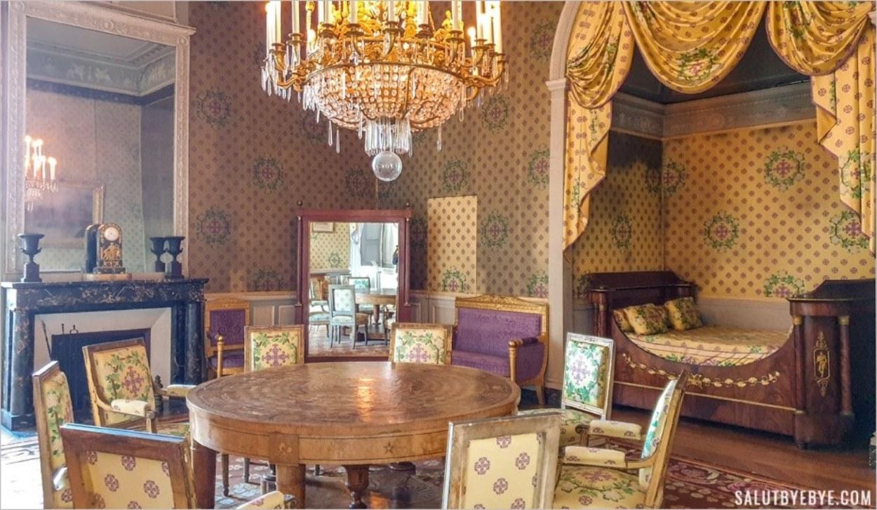 Chambre du maréchal Lannes, château de Maisons