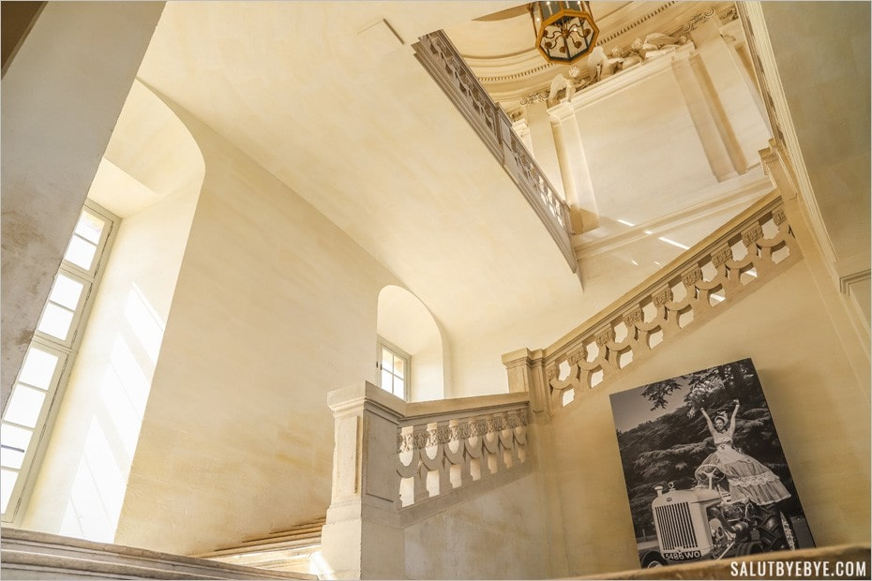 L'escalier d'honneur du château de Maisons-Laffitte
